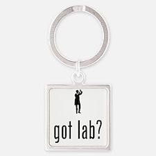 Lab-Technician-02-A Square Keychain