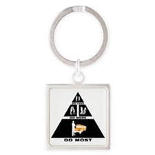 School-Bus-Driver-11-A Square Keychain