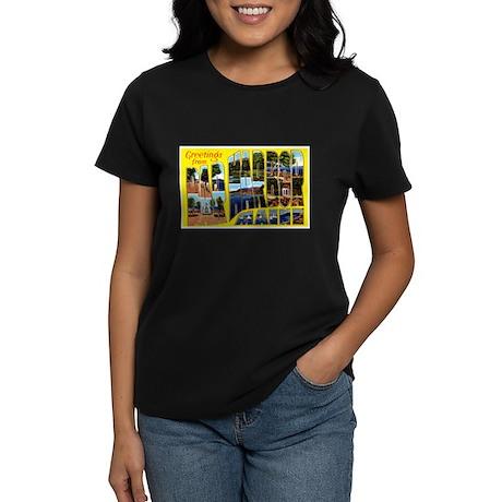 Bar Harbor Maine (Front) Women's Dark T-Shirt