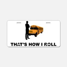 School-Bus-Driver-12-A Aluminum License Plate
