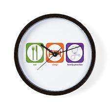 Eat Sleep Family Practice Wall Clock