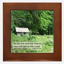 Joshua 24-15 Framed Tile