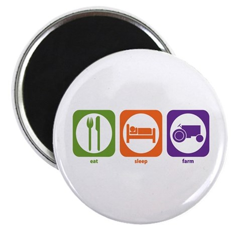 "Eat Sleep Farm 2.25"" Magnet (10 pack)"