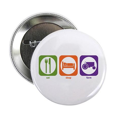 "Eat Sleep Farm 2.25"" Button (100 pack)"