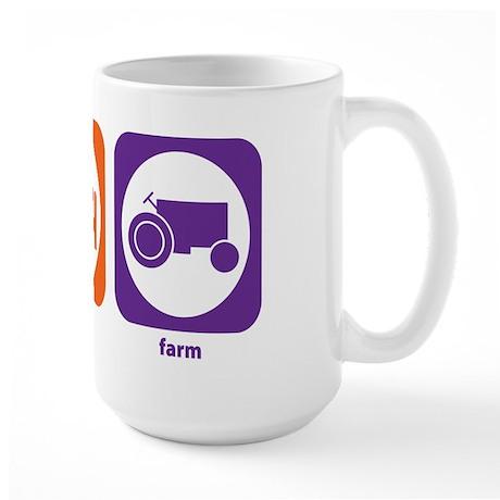 Eat Sleep Farm Large Mug