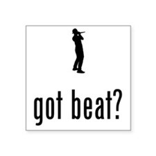 "Beatboxing-02-A Square Sticker 3"" x 3"""