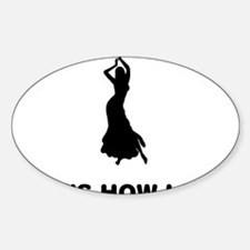 Belly-Dancer-12-A Sticker (Oval)