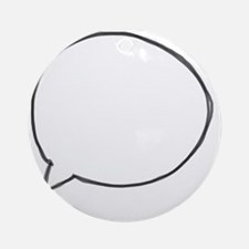 Speech Bubble Round Ornament