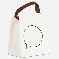 Speech Bubble Canvas Lunch Bag