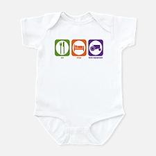 Eat Sleep Farm Equipment Infant Bodysuit