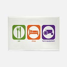 Eat Sleep Farm Equipment Rectangle Magnet