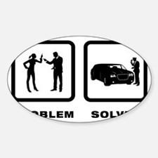 Limo-Driver-10-A Sticker (Oval)