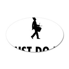 Marching-Band---Snare-Drum-0 35x21 Oval Wall Decal