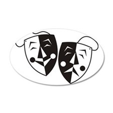 Comedy and Tragedy Masks Wall Decal