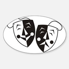 Comedy and Tragedy Masks Decal