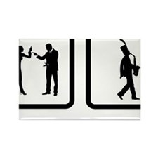 Marching-Band---Saxophone-10-A Rectangle Magnet