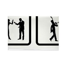 Marching-Band---Trumpet-10-A Rectangle Magnet