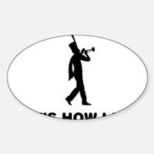 Marching-Band---Trumpet-12-A Sticker (Oval)