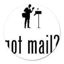 Mailman-02-A Round Car Magnet