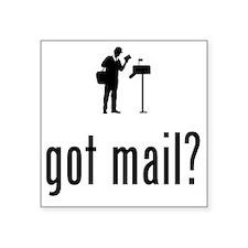 "Mailman-02-A Square Sticker 3"" x 3"""