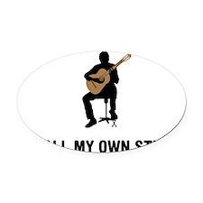 Classical-Guitar-03-A Oval Car Magnet