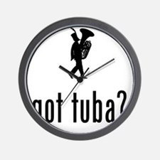 Marching-Band---Tuba-02-A Wall Clock