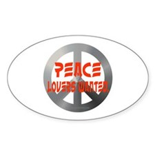 Peace lovers wanted Oval Decal