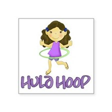 "Hula Hoop - Purple Square Sticker 3"" x 3"""