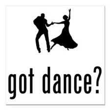"Dancing-02-A Square Car Magnet 3"" x 3"""