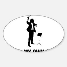 Music-Conductor-03-A Sticker (Oval)