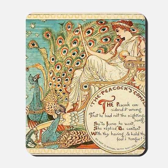 Aesops Peacock Mousepad