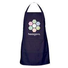 Hexagons Dark Apron (dark)