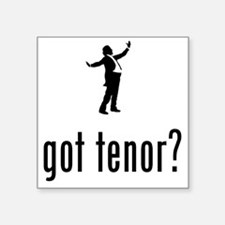 "Opera-Singer-Tenor-02-A Square Sticker 3"" x 3"""