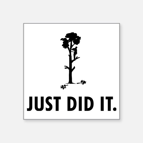 "Tree-Trimmer-04-A Square Sticker 3"" x 3"""