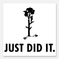 """Tree-Trimmer-04-A Square Car Magnet 3"""" x 3"""""""