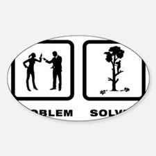 Tree-Trimmer-10-A Sticker (Oval)