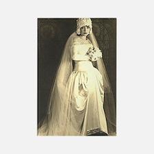 Vintage Wedding the Bride Rectangle Magnet