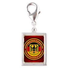German Emblem Silver Portrait Charm