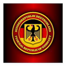 "German Emblem Square Car Magnet 3"" x 3"""