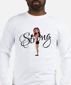Strong Fit Girl Long Sleeve T-Shirt
