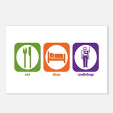 Eat Sleep Cardiology Postcards (Package of 8)