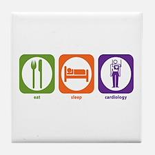 Eat Sleep Cardiology Tile Coaster