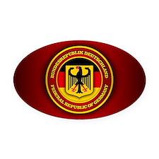 German Emblem Oval Car Magnet