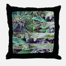 Marijuana Flag Throw Pillow