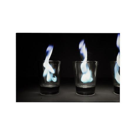 Flaming Shots Poster (Large) Rectangle Magnet