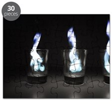 Flaming Shots Poster (Large) Puzzle