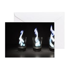 Flaming Shots Poster (Large) Greeting Card