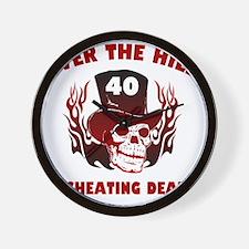 40th Birthday Cheating Death Wall Clock