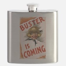 Buster is coming - US Lithograph - 1907 Flask
