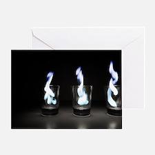 Flaming Shots Greeting Card